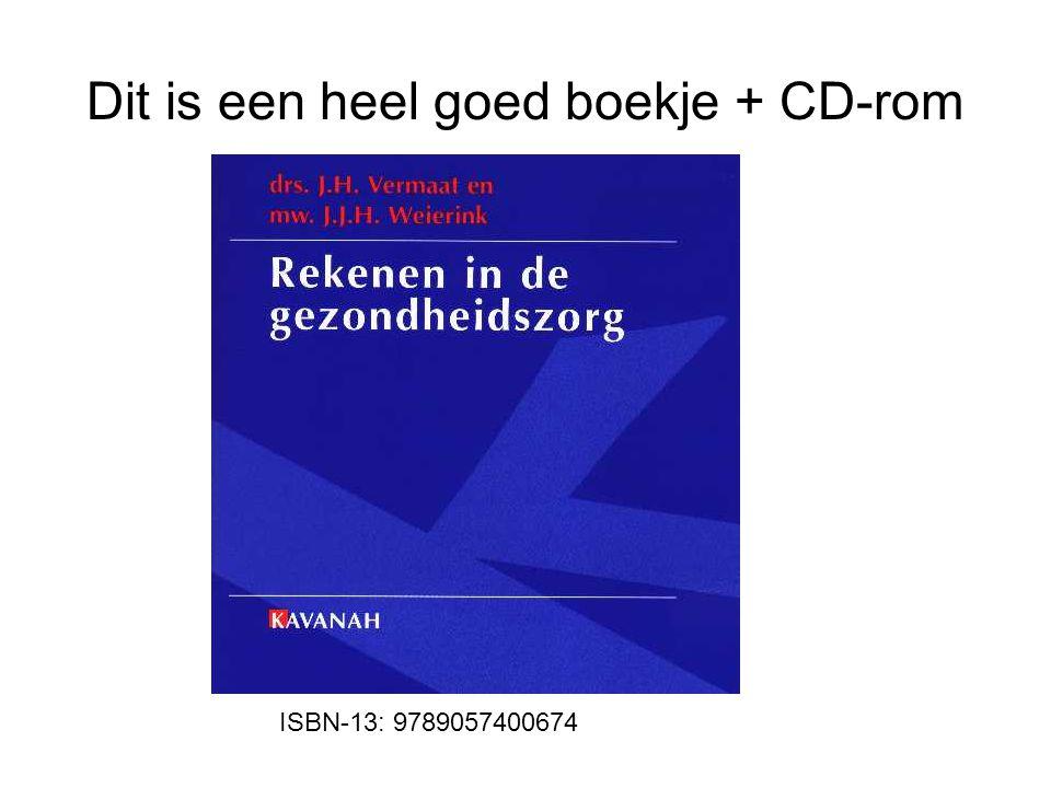 Dit is een heel goed boekje + CD-rom ISBN-13: 9789057400674