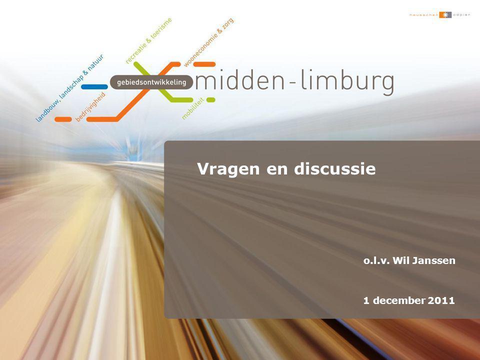 Vragen en discussie o.l.v. Wil Janssen 1 december 2011