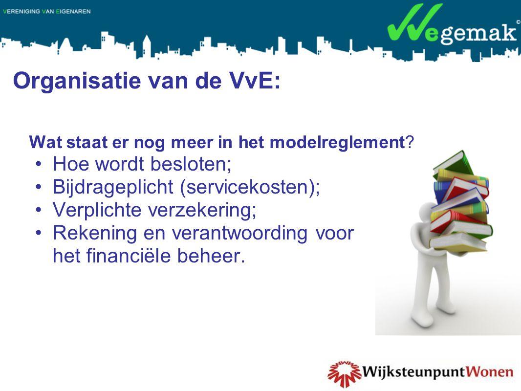 Organisatie van de VvE: Wat staat er nog meer in het modelreglement.