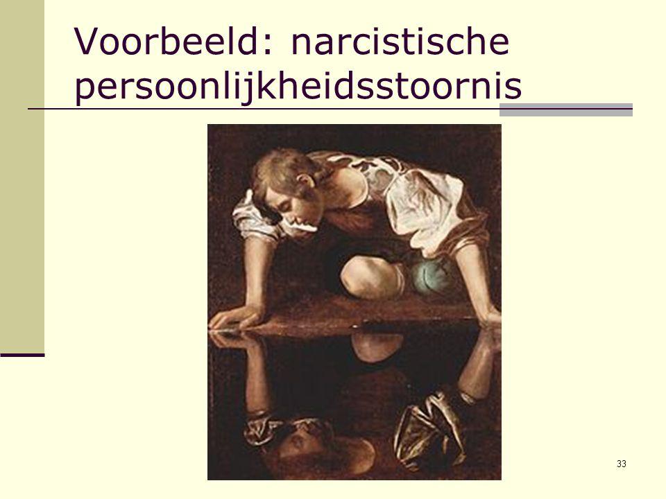 33 Voorbeeld: narcistische persoonlijkheidsstoornis