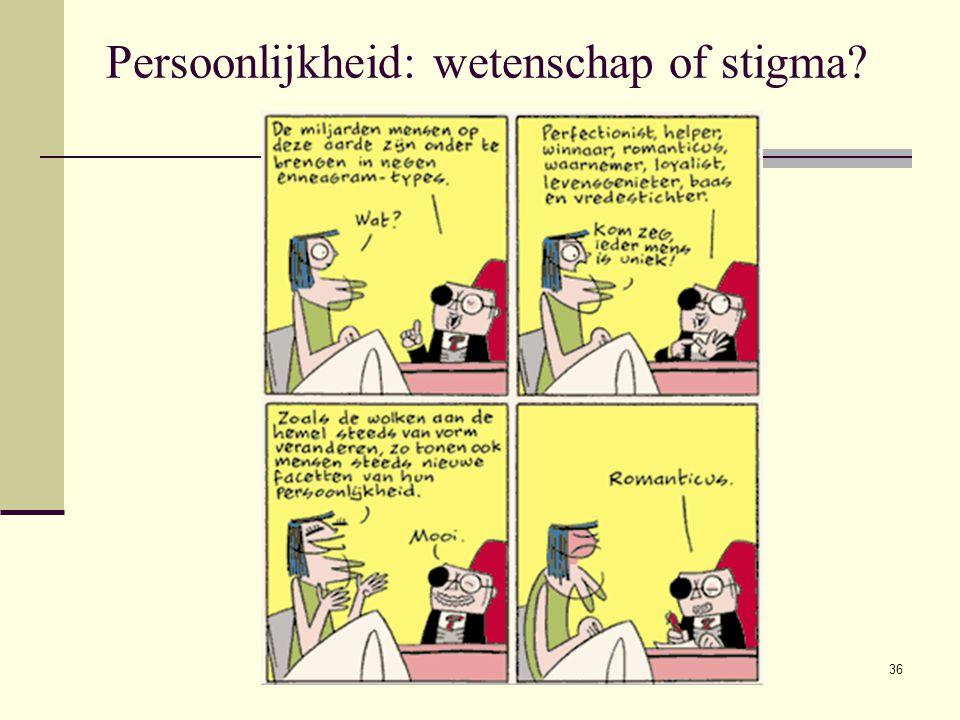 36 Persoonlijkheid: wetenschap of stigma?