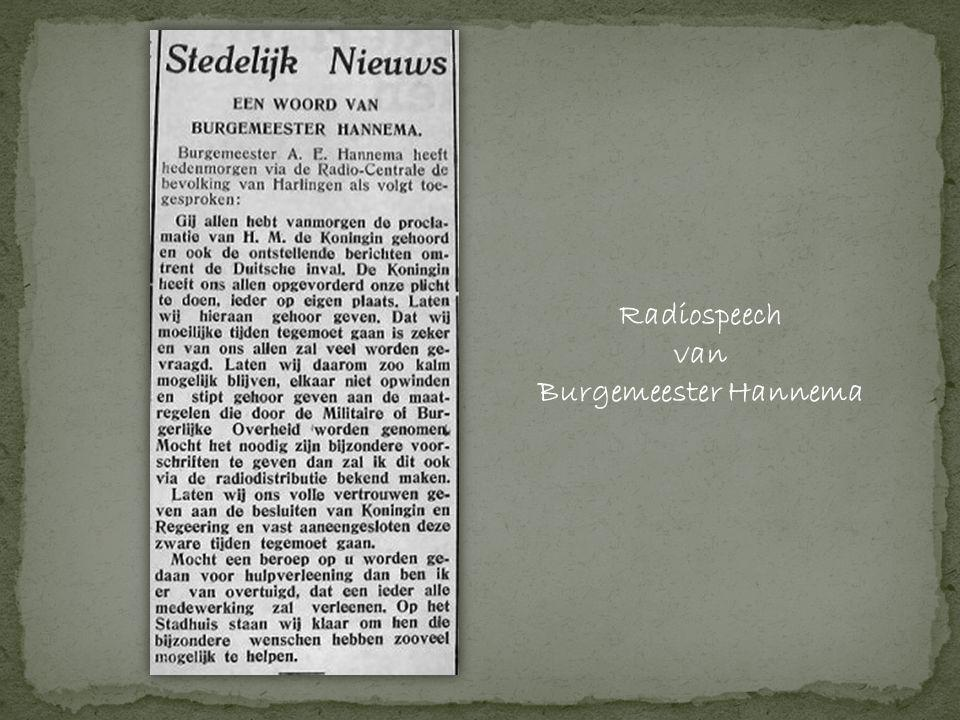 Radiospeech van Burgemeester Hannema
