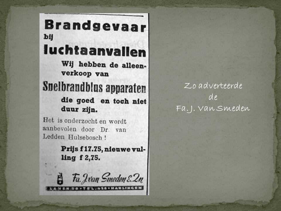 Zo adverteerde de Fa. J. Van Smeden