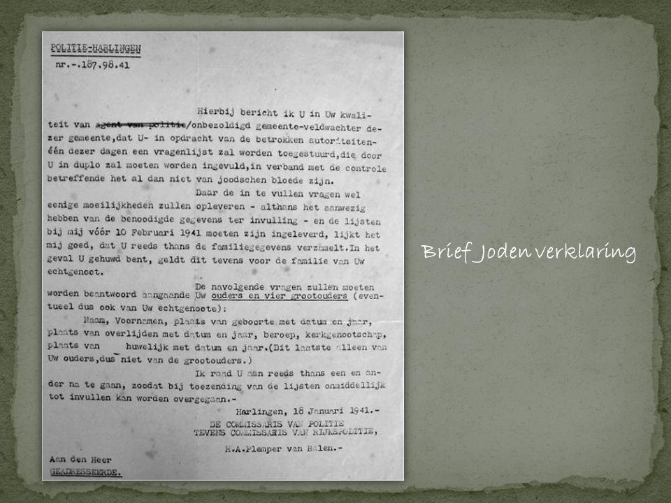 Brief Joden verklaring
