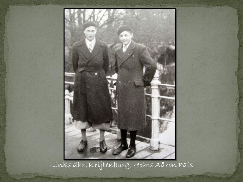 Links dhr. Krijtenburg, rechts Aäron Pais