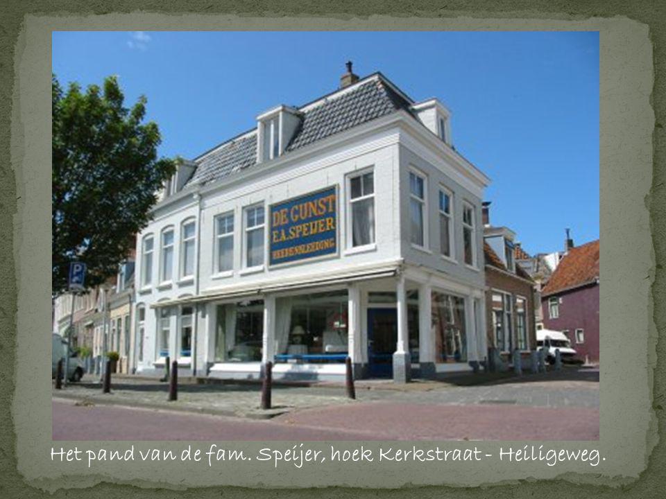 Het pand van de fam. Speijer, hoek Kerkstraat - Heiligeweg.
