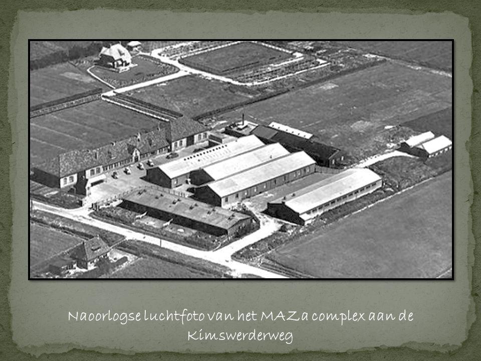 Naoorlogse luchtfoto van het MAZa complex aan de Kimswerderweg
