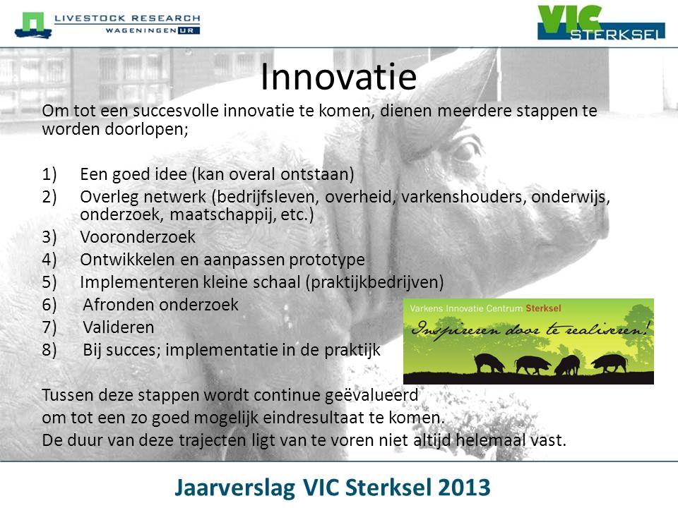 Innovatie Om tot een succesvolle innovatie te komen, dienen meerdere stappen te worden doorlopen; 1)Een goed idee (kan overal ontstaan) 2)Overleg netw