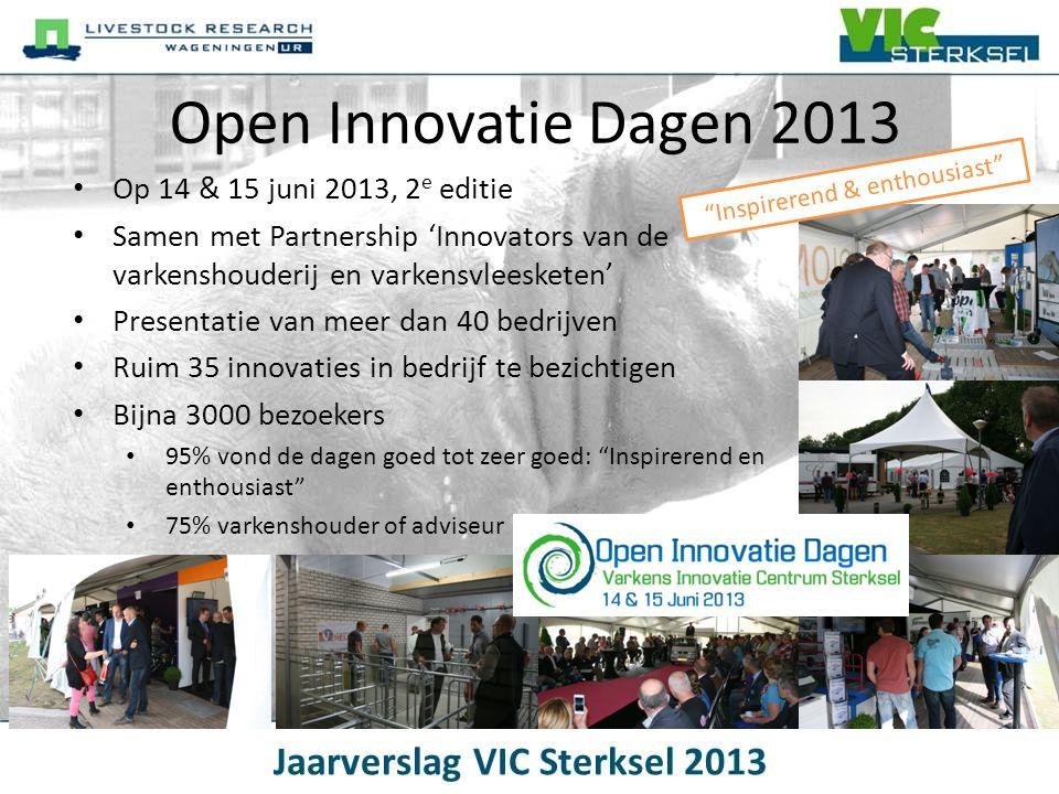 Open Innovatie Dagen 2013 • Op 14 & 15 juni 2013, 2 e editie • Samen met Partnership 'Innovators van de varkenshouderij en varkensvleesketen' • Presen