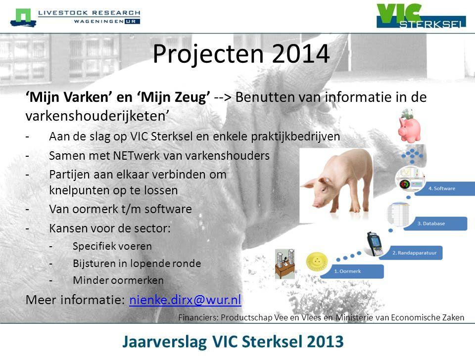 Projecten 2014 'Mijn Varken' en 'Mijn Zeug' --> Benutten van informatie in de varkenshouderijketen' -Aan de slag op VIC Sterksel en enkele praktijkbed