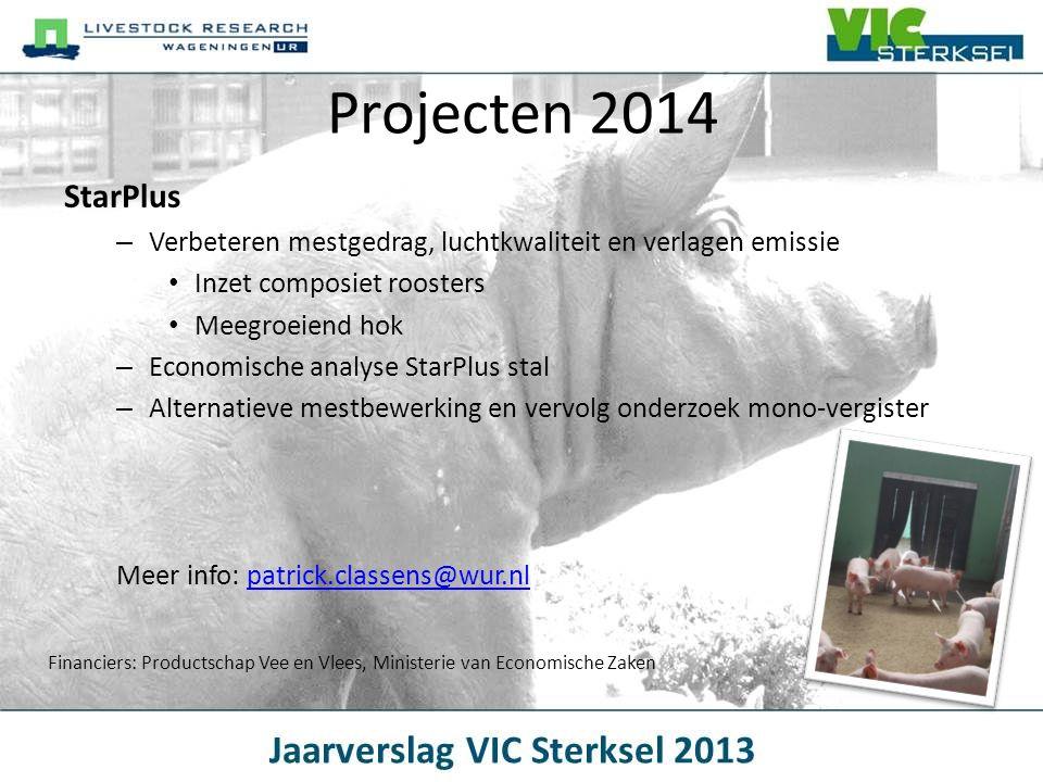 StarPlus – Verbeteren mestgedrag, luchtkwaliteit en verlagen emissie • Inzet composiet roosters • Meegroeiend hok – Economische analyse StarPlus stal