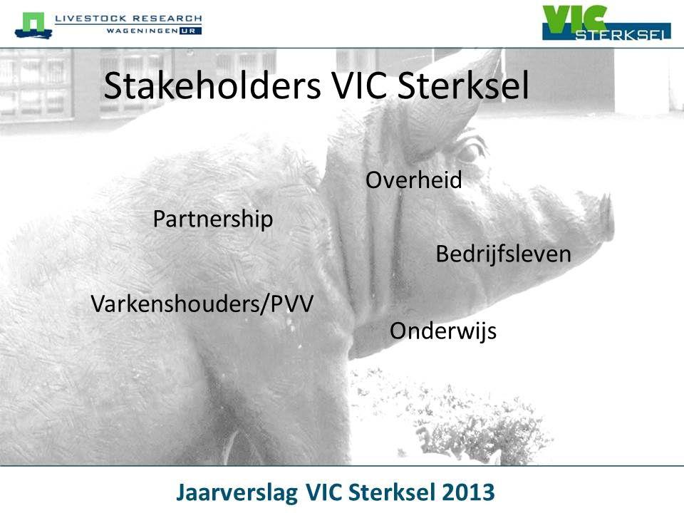 Stakeholders VIC Sterksel Overheid Partnership Onderwijs Bedrijfsleven Varkenshouders/PVV