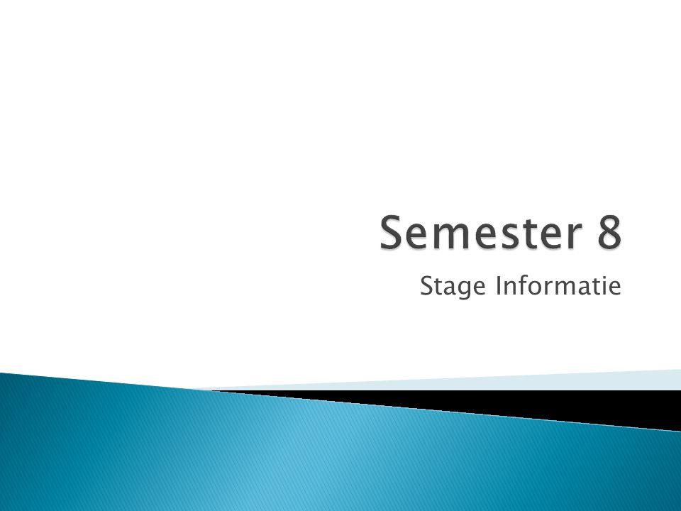 Stage Informatie