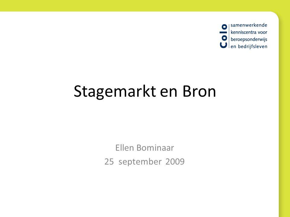 Stagemarkt en Bron Ellen Bominaar 25 september 2009