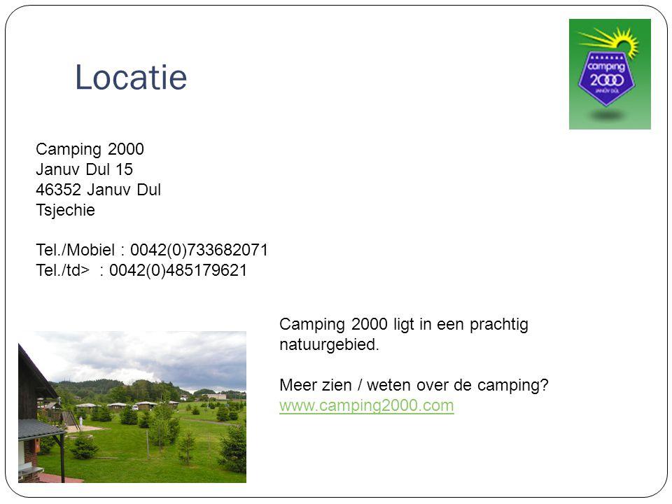 Locatie Camping 2000 Januv Dul 15 46352 Januv Dul Tsjechie Tel./Mobiel : 0042(0)733682071 Tel./td> : 0042(0)485179621 Camping 2000 ligt in een prachtig natuurgebied.