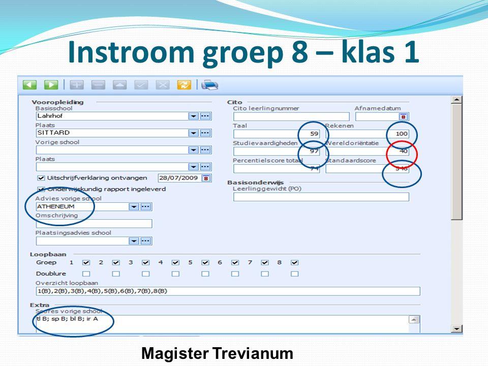 Instroom groep 8 – klas 1 Magister Trevianum