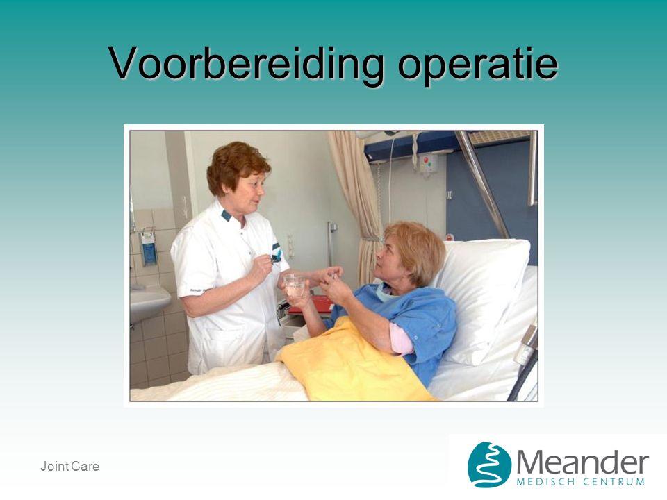 Joint Care Voorbereiding operatie