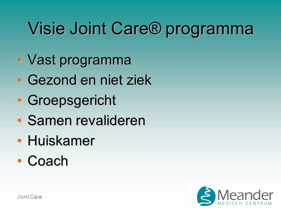 Joint Care Orthopedie