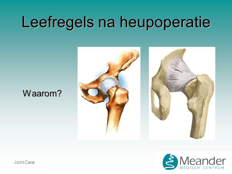 Joint Care Leefregels na heupoperatie Waarom?