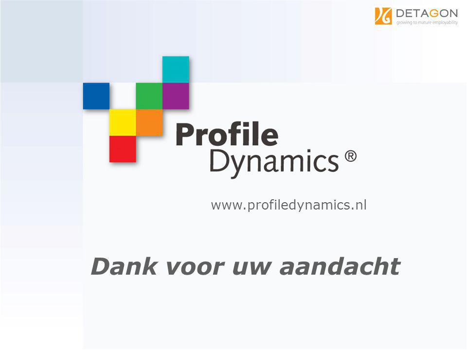 Dank voor uw aandacht www.profiledynamics.nl