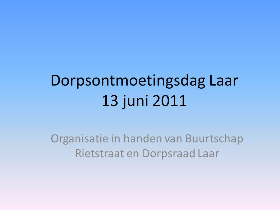 Dorpsontmoetingsdag Laar 13 juni 2011 Organisatie in handen van Buurtschap Rietstraat en Dorpsraad Laar