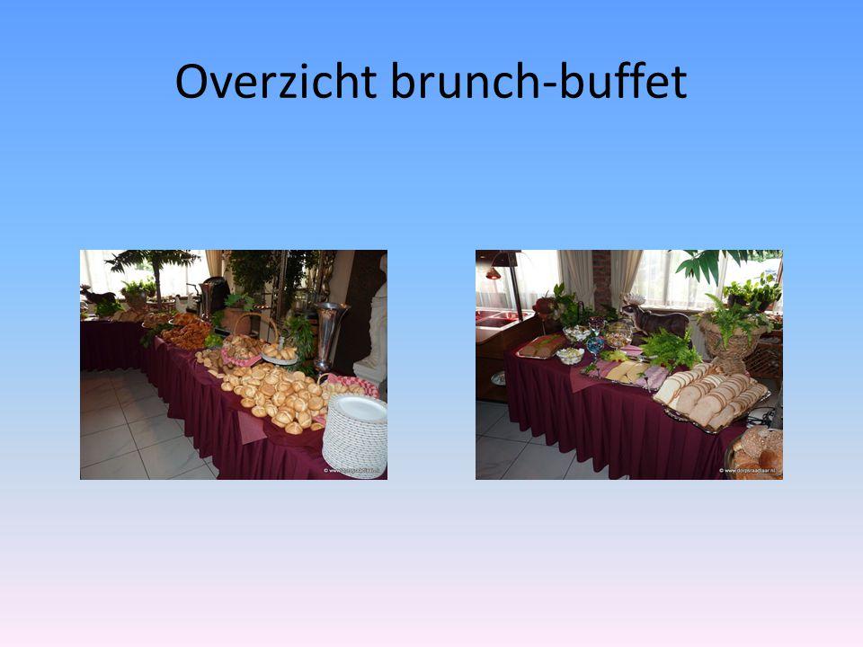 Overzicht brunch-buffet