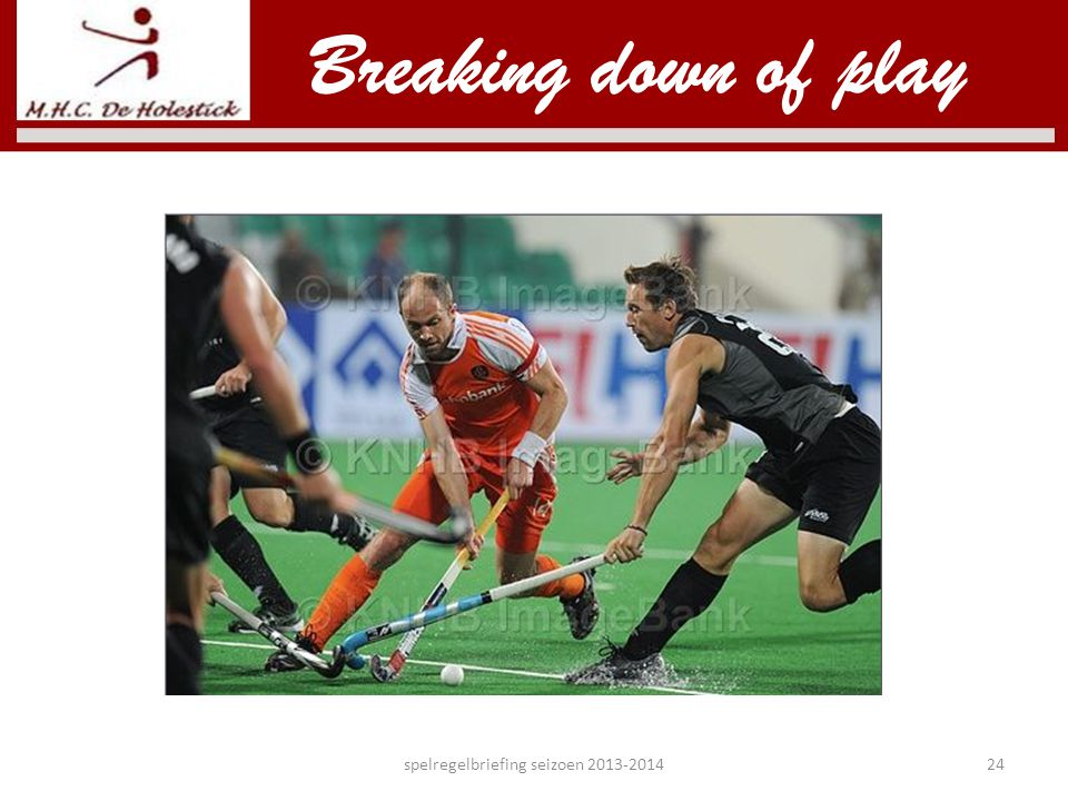 Breaking down of play spelregelbriefing seizoen 2013-201424