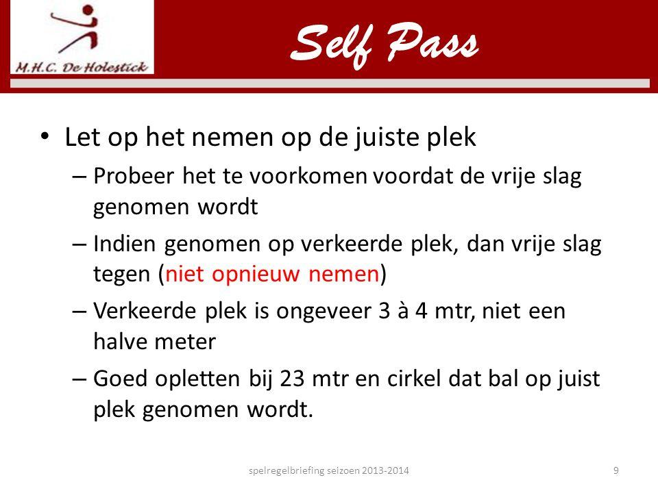 Gebruik lichaam en stick spelregelbriefing seizoen 2013-201430 Sliding