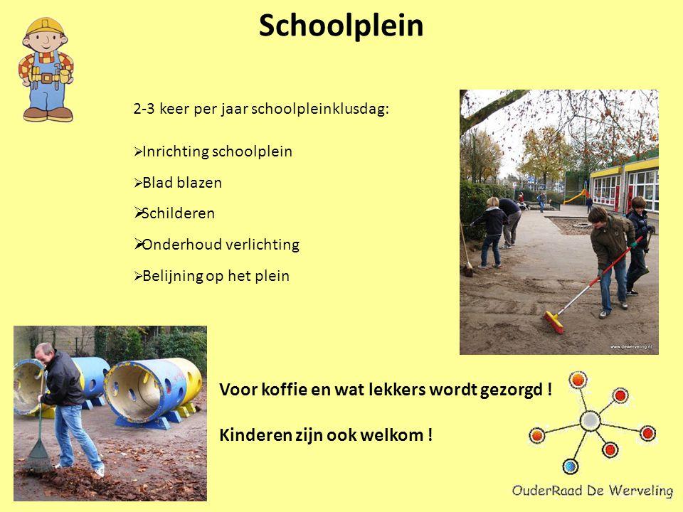 Schoolplein 2-3 keer per jaar schoolpleinklusdag: Voor koffie en wat lekkers wordt gezorgd .