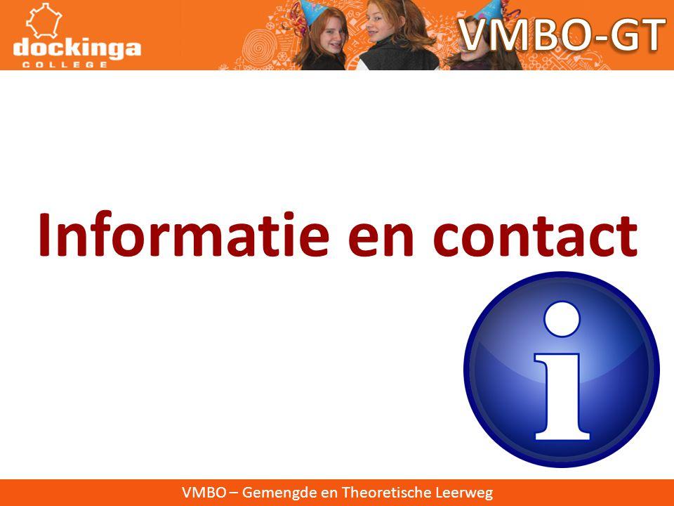 VMBO – Gemengde en Theoretische Leerweg Informatie en contact