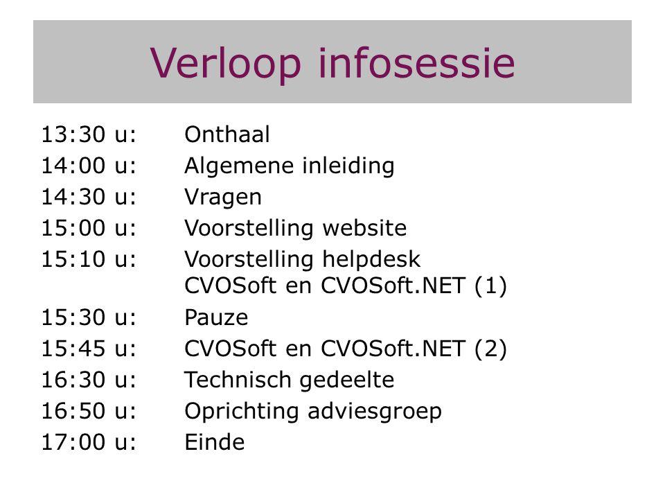 CVOSoft en CVOSoft.NET Deel 3 (indien nog tijd) Cursisten en inschrijvingen NT2 HvN KBI