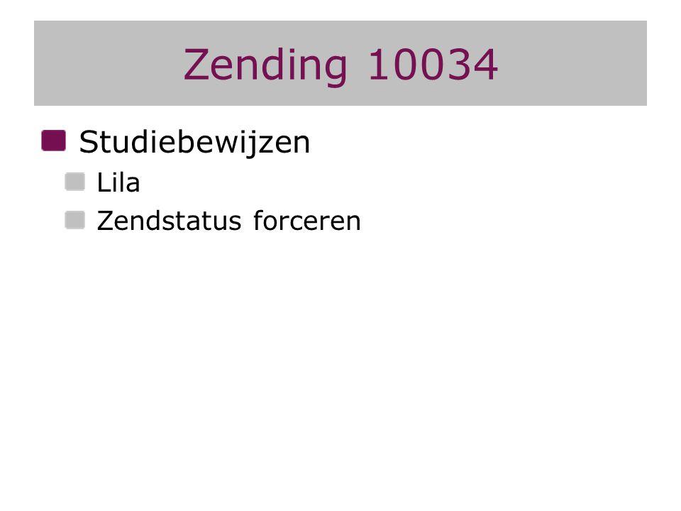 Zending 10034 Studiebewijzen Lila Zendstatus forceren
