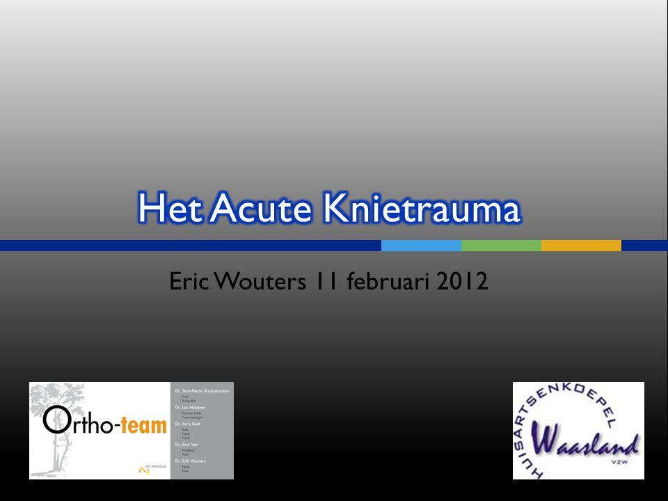  CT met contrast: meniscuslijden en kraakbeenletsels Symposium 11/2/2012