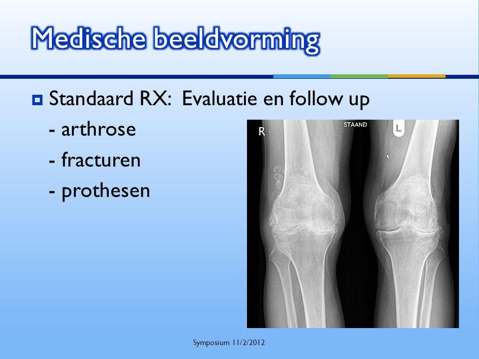  Standaard RX: Evaluatie en follow up - arthrose - fracturen - prothesen Symposium 11/2/2012
