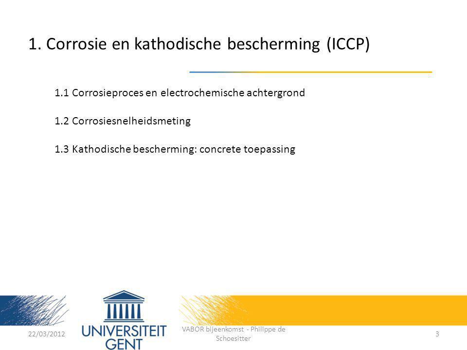 1.2 Corrosieproces 22/03/20124 VABOR bijeenkomst - Philippe de Schoesitter Fe 2+