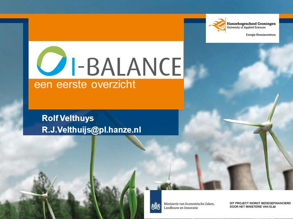 I-Balance een eerste overzicht Rolf Velthuys R.J.Velthuijs@pl.hanze.nl