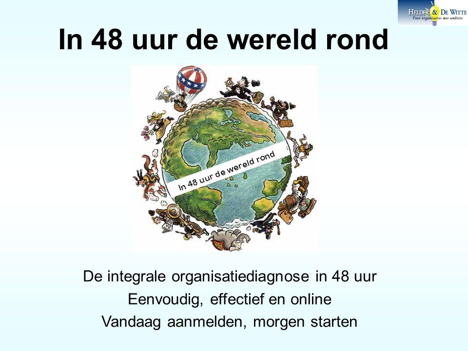 In 48 uur de wereld rond De integrale organisatiediagnose in 48 uur Eenvoudig, effectief en online Vandaag aanmelden, morgen starten