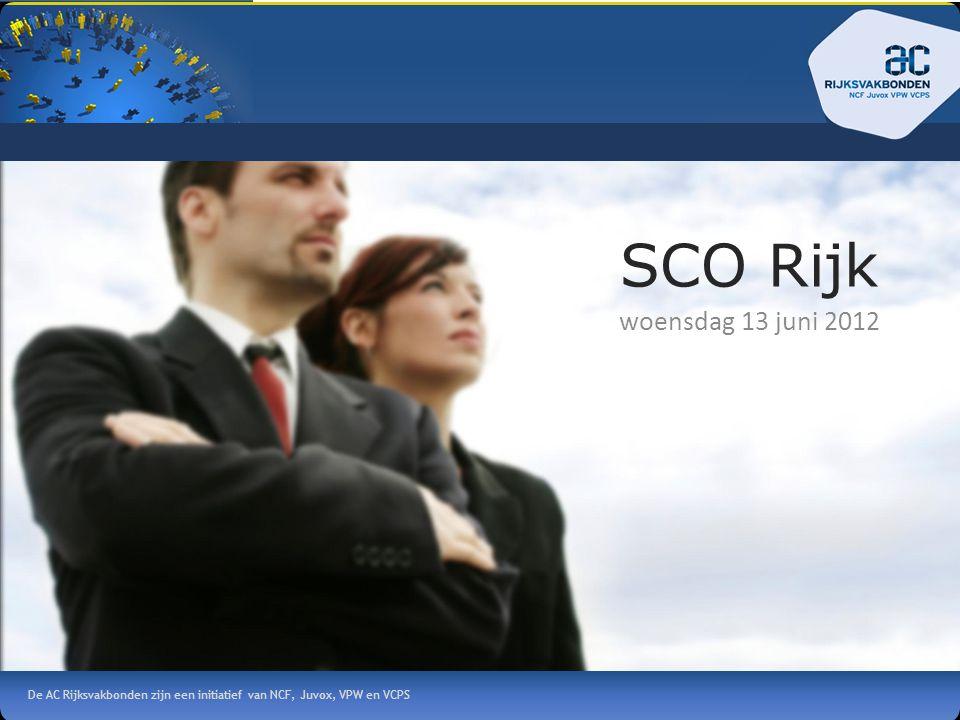 De AC Rijksvakbonden zijn een initiatief van NCF, Juvox, VPW en VCPS SCO Rijk woensdag 13 juni 2012
