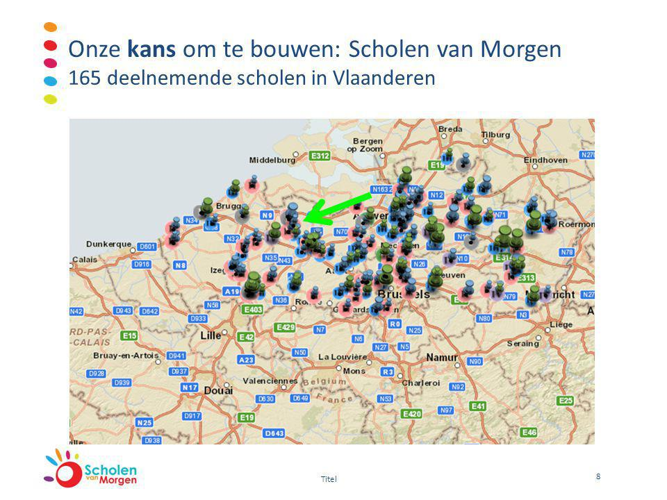 Onze kans om te bouwen: Scholen van Morgen 165 deelnemende scholen in Vlaanderen 8 Titel
