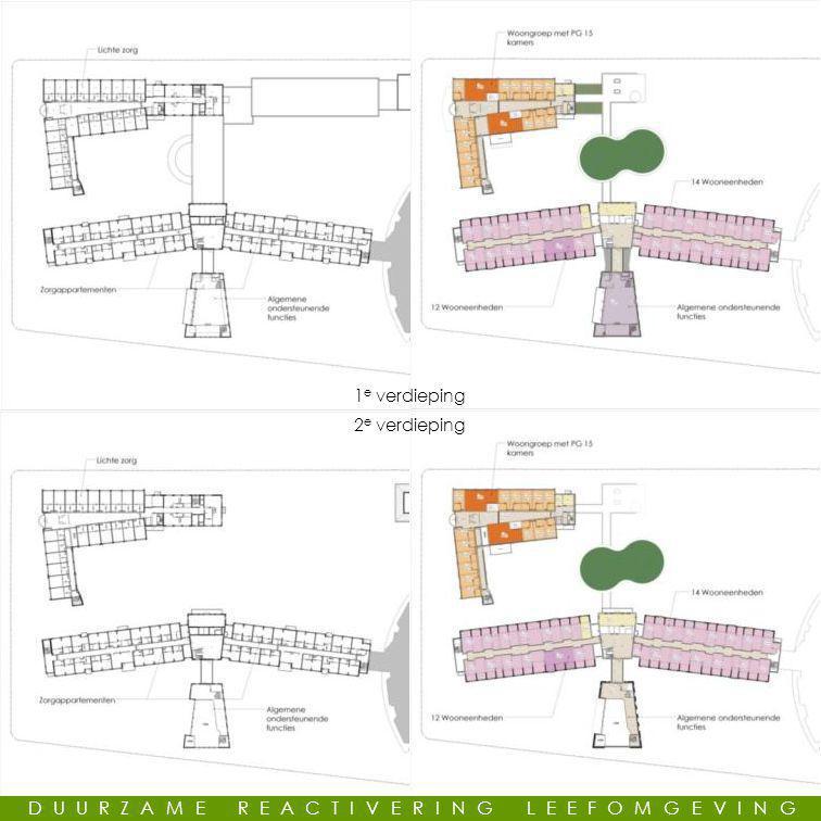 Modellen 1 e verdieping 2 e verdieping DUURZAME REACTIVERING LEEFOMGEVING