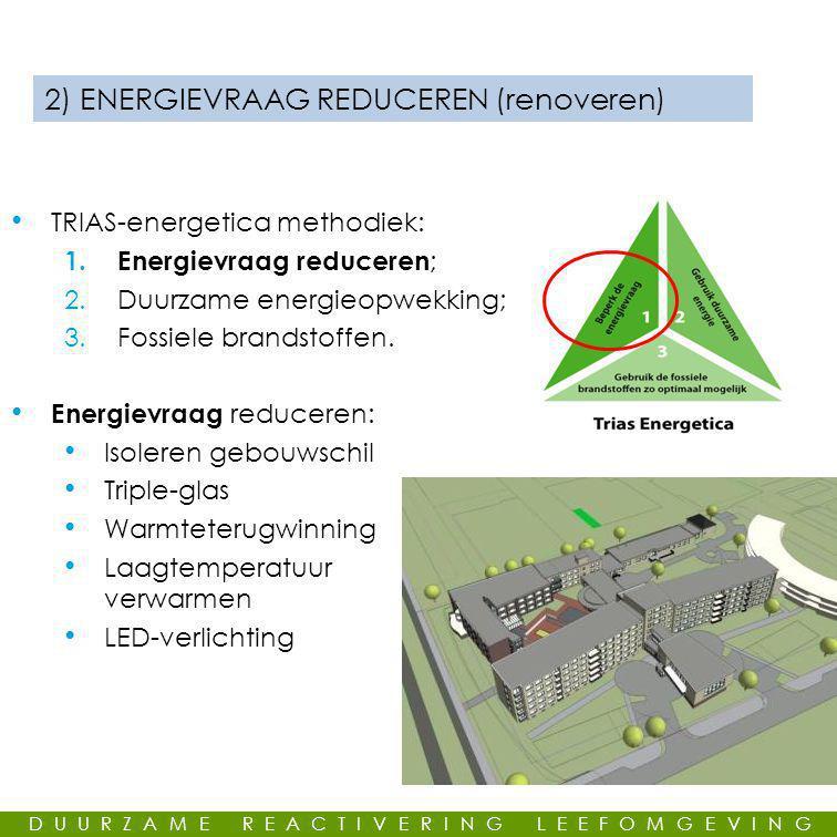 GEMEENSCHAPPELIJKE LEUS 2) ENERGIEVRAAG REDUCEREN (renoveren) • TRIAS-energetica methodiek: 1.
