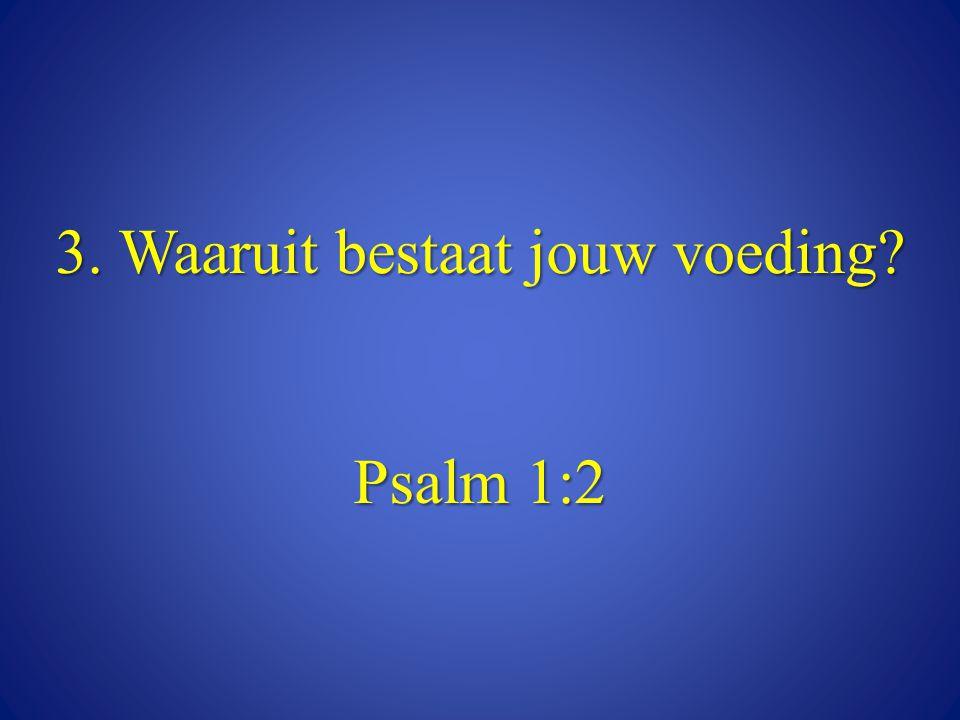 3. Waaruit bestaat jouw voeding? Psalm 1:2