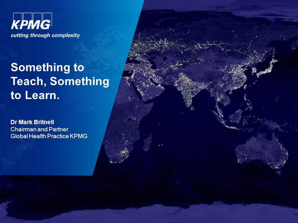 2 © 2013 KPMG LLP, a UK limited liability partnership, is a subsidiary of KPMG Europe LLP and a member firm of the KPMG network of independent member firms affiliated with KPMG International Cooperative ('KPMG International'), a Swiss entity.