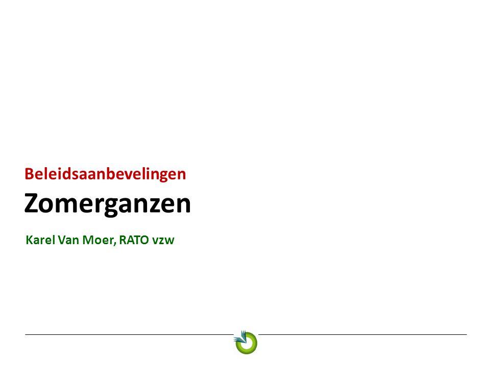 Zomerganzen Beleidsaanbevelingen Karel Van Moer, RATO vzw