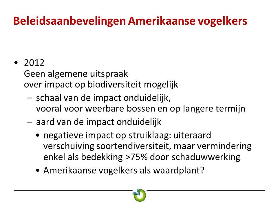 Algemene beleidsaanbevelingen vanuit het Invexo-project Werkgroep 'Voorstel Beleid en samenwerking' Bert Lotz, Wageningen UR - Plant Research International (PRI)