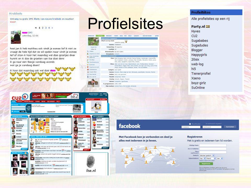 Favorieten van kinderen •Profielwebsites –Hyves.nl –Cu2.nl •MSN •Youtube •Games –Habbo –Runescape