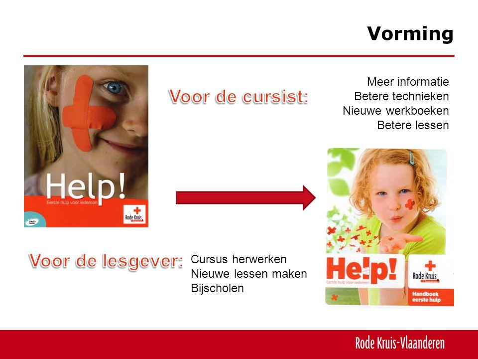 Vorming Meer informatie Betere technieken Nieuwe werkboeken Betere lessen Cursus herwerken Nieuwe lessen maken Bijscholen