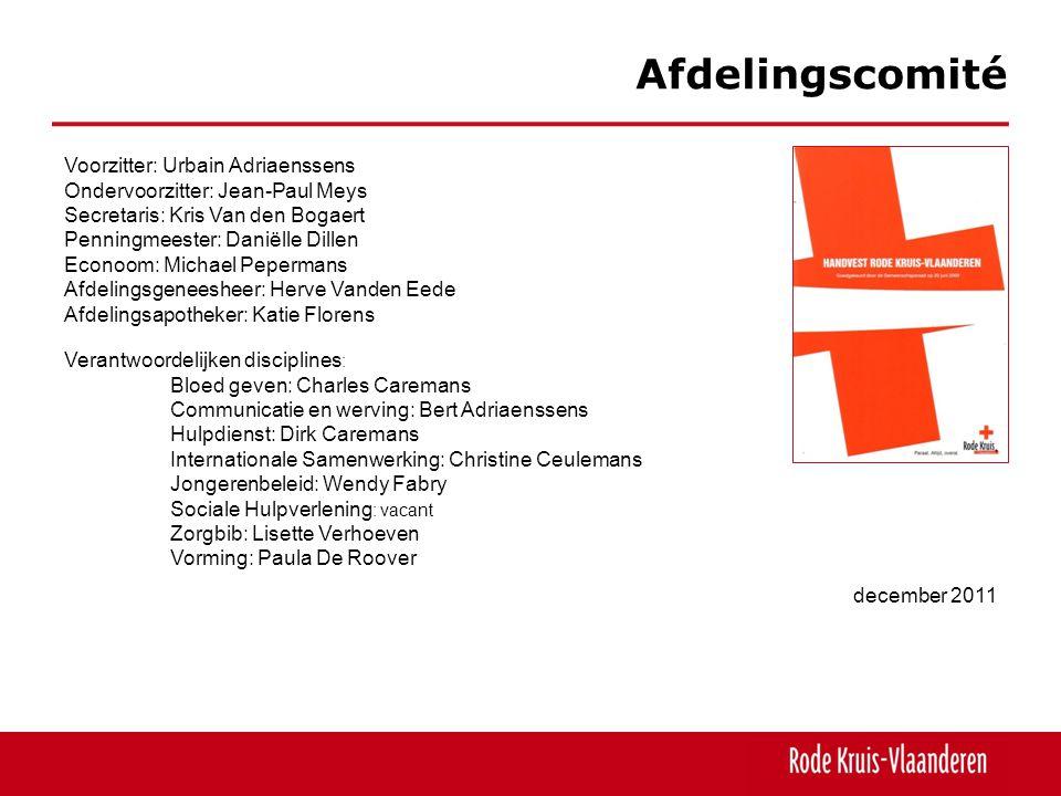 Hulpdienst, rampenwerking 12 april 2011: brand appartementsgebouw Antwerpen – evacuatie 04u50-06u30: 4 vrijwilligers 24 augustus 2011: brand Borgerhout – evacuatie 32 huizen in omgeving 11u30-4u15: 5 vrijwilligers 21 november 2011: ongeval 2 trams Linkeroever 9u18-9u30: 4 vrijwilligers