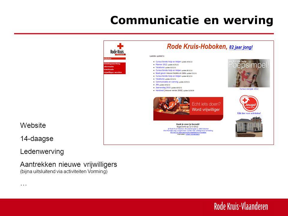 Communicatie en werving, vrijwilligers