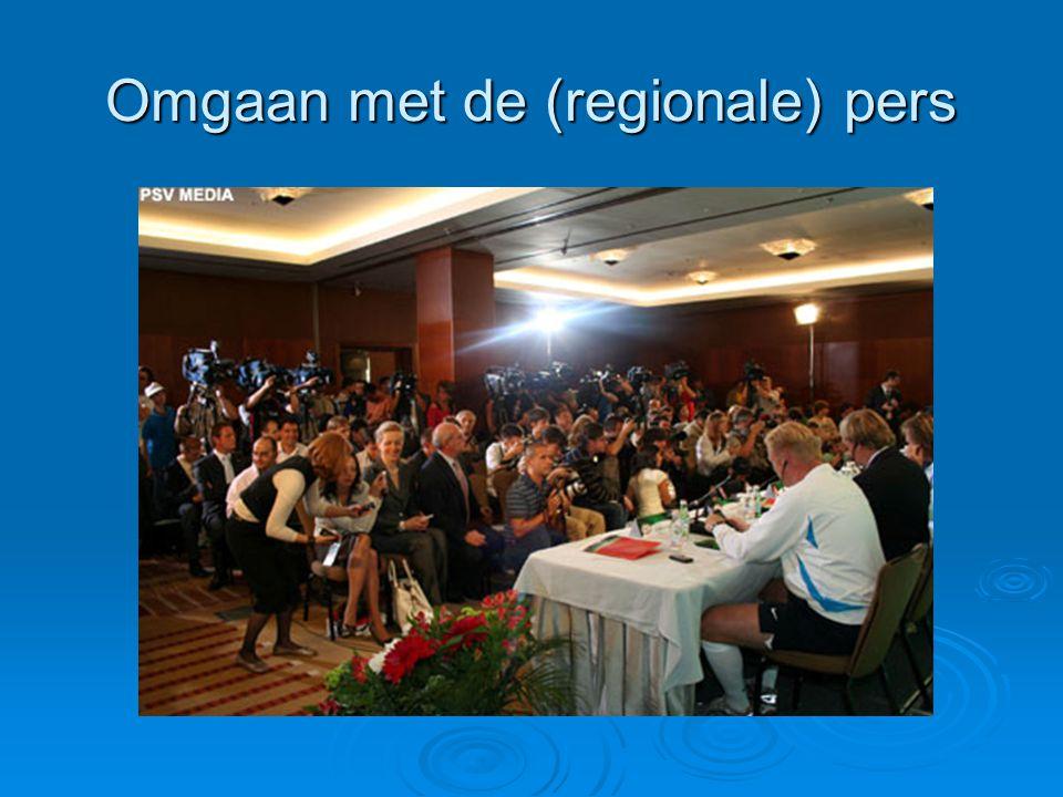 Omgaan met de (regionale) pers